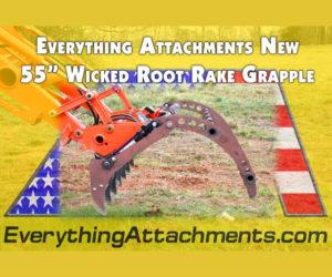 55 Inch Wick Root Rake Grapple