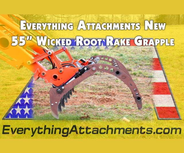 New EA 55 Inch Wicked Root Rake Grapple