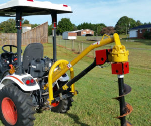 Compact Tractor Post Hole Digger