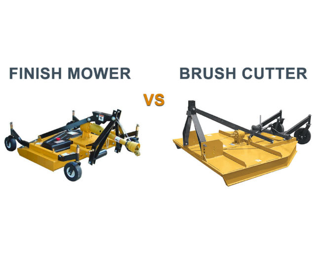 Which Is Better A Finish Mower VS Brush Cutter | Everything Tractors